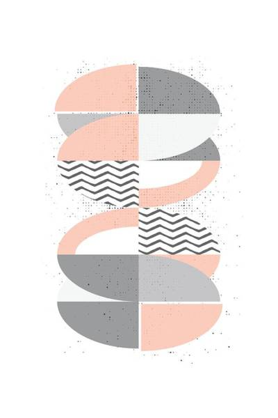 Oval Digital Art - Scandinavian Design No 67  by Melanie Viola