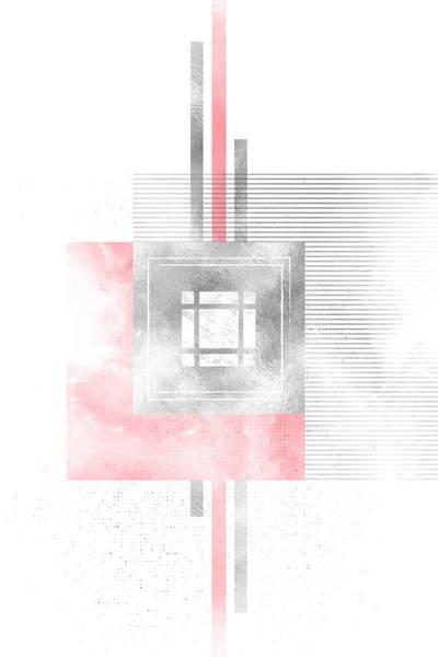 Nordic Digital Art - Scandinavian Design No 90 Living Coral by Melanie Viola