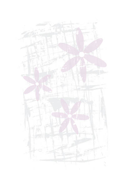 Nordic Digital Art - Scandinavian Design - Pink Blossoms by Melanie Viola