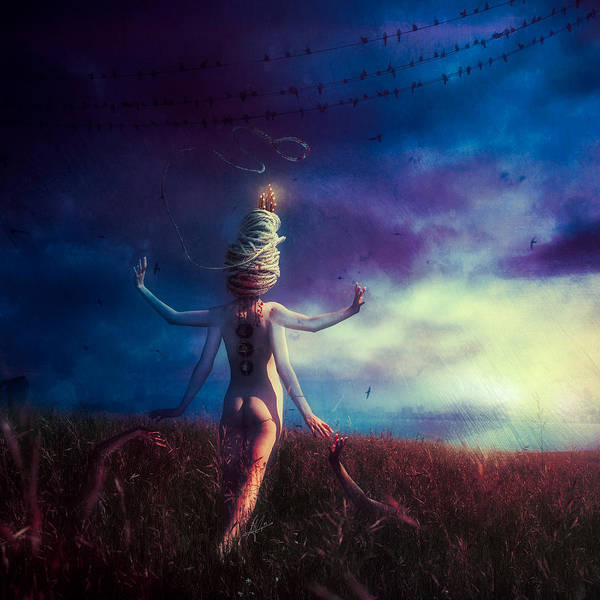 Surreal Landscape Wall Art - Digital Art - Scarecrow by Mario Sanchez Nevado