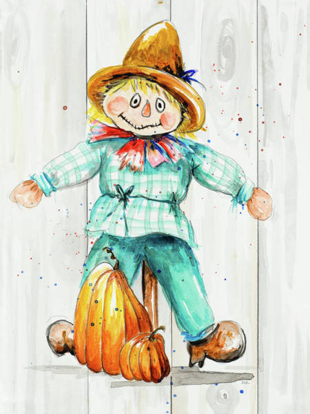 Wall Art - Painting - Scarecrow by Patricia Pinto