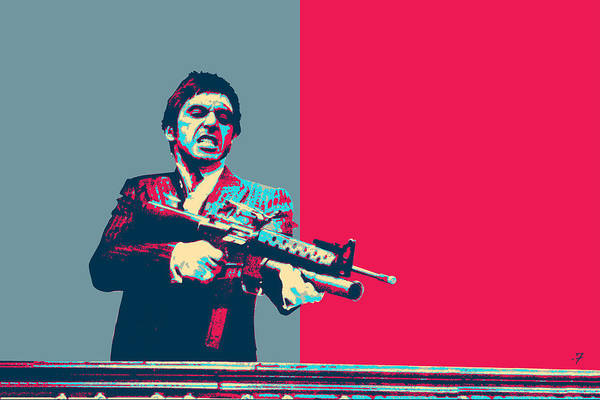 Digital Art - Scarface - Tony Montana And His Little Friend    by Serge Averbukh