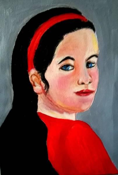 Painting - Scarlett by Rusty Gladdish