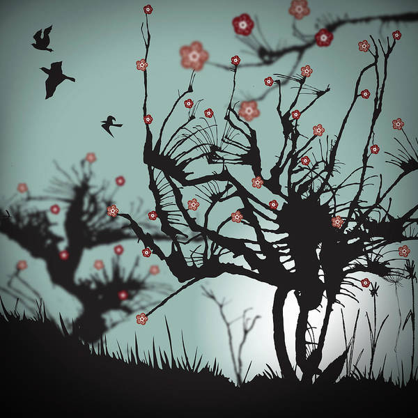 Square Digital Art - Scary Blooms by Bodhi Hill