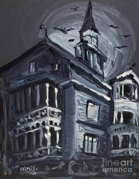 Scary Old House Art Print