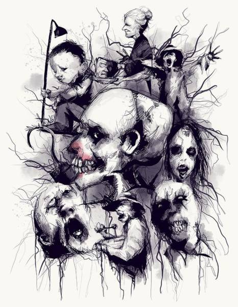 Drawing - Scary Stories To Tell In The Dark by Ludwig Van Bacon