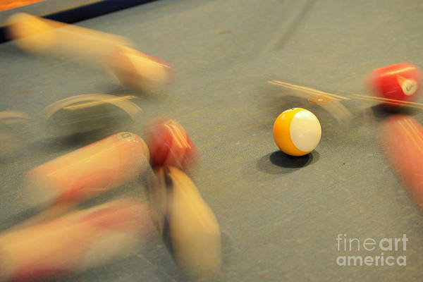 Wall Art - Photograph - Scattering Pool Balls by Jeff Swan