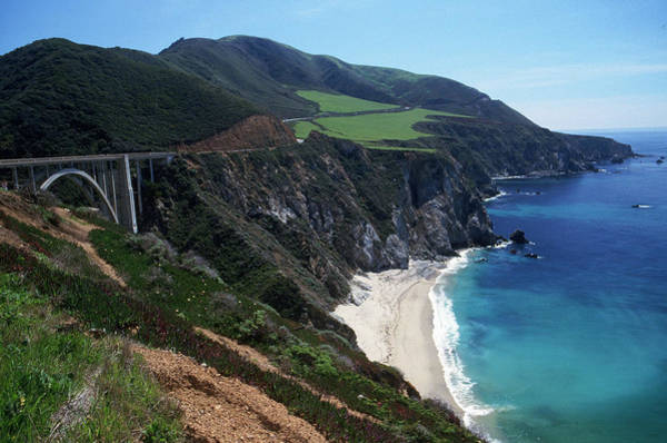 Southwest Usa Photograph - Scen277 Bixby Bridge On Highway 1, Big by Michele Burgess
