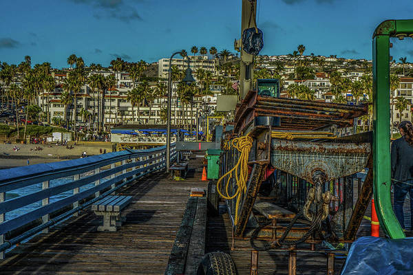 Photograph - Scene - Beach Front - Construction by Kenneth James