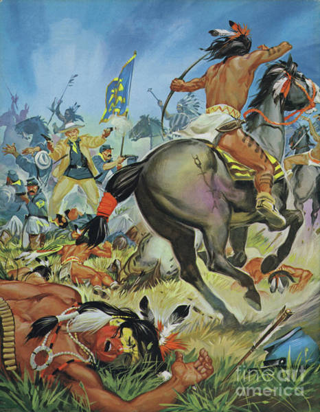Wall Art - Painting - Scene From Custers Last Stand by Angus McBride