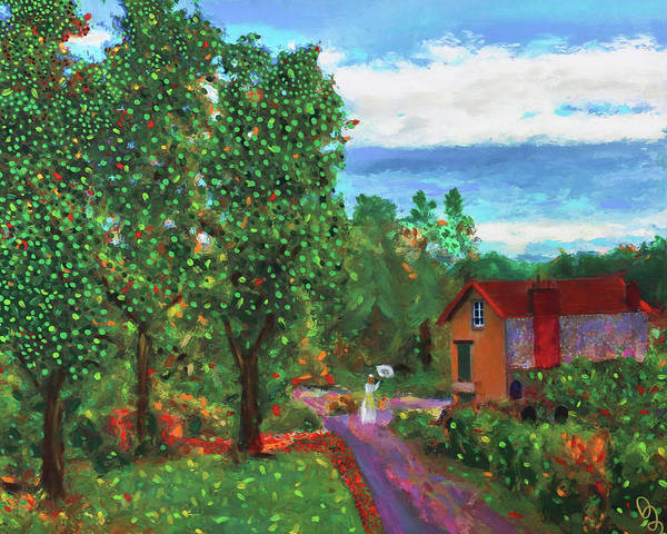 Painting - Scene From Giverny by Deborah Boyd