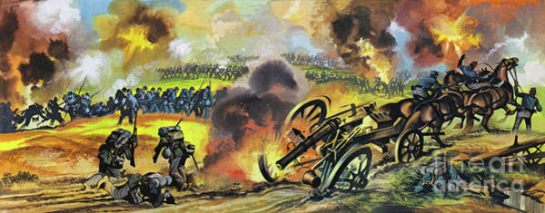 Wall Art - Painting - Scene From The American Civil War by Ron Embleton