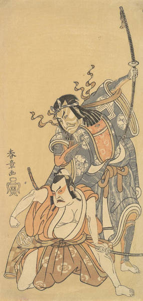 Relief - Scene From The Drama Soga Moyo Aigo No Wakamatsu by Katsukawa Shunsho