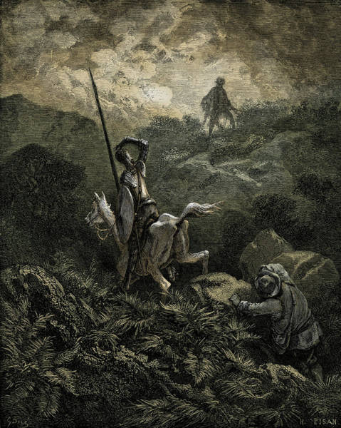 Wall Art - Painting - Scene From The History Of Don Quixote By Cervantes by Gustave Dore