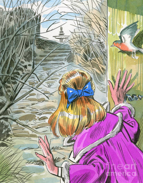 Wall Art - Painting - Scene From The Secret Garden  by English School