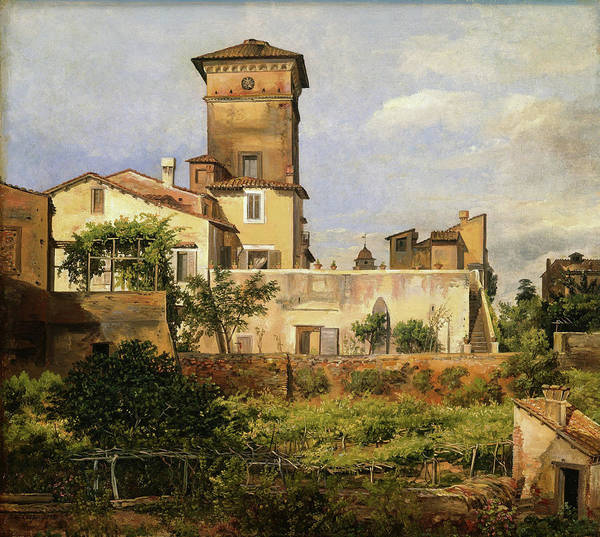 Wall Art - Painting - Scene From The Villa Malta - Digital Remastered Edition by Johan Christian Dahl