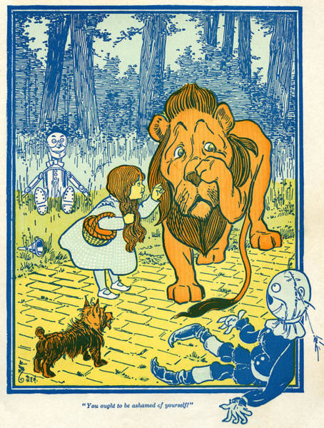 Yourself Drawing - Scene From The Wizard Of Oz by William Wallace Denslow