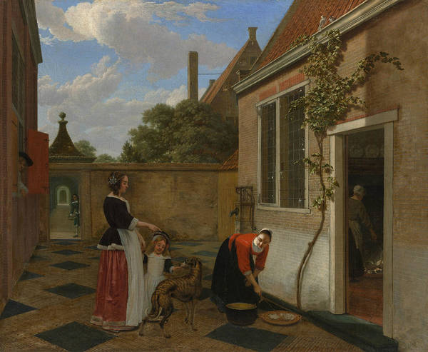 Painting - Scene In A Courtyard by Ludolf Leendertsz de Jongh