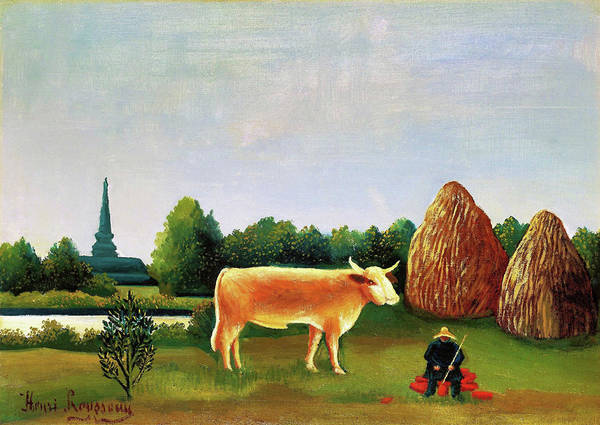 Wall Art - Painting - Scene In Bagneux On The Outskirts Of Paris - Digital Remastered Edition by Henri Rousseau