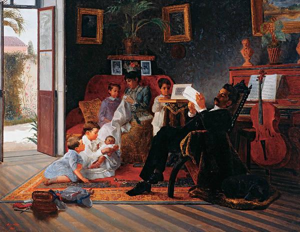 Painting - Scene Of Adolfo Pinto's Family by Almeida Junior