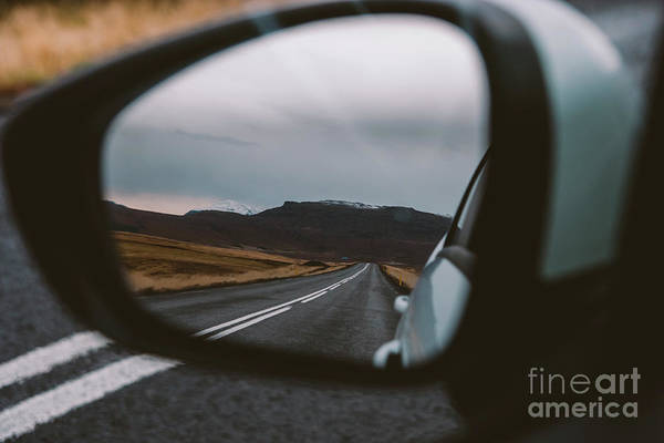 Photograph - Scene Of Adventure Travel In The Mountains Driving A Car On The Road With Clouds And Snow. by Joaquin Corbalan