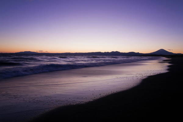 Scenery Photograph - Scenery Of Sunset Sea, Mt. Fuji In by Plusphoto/amanaimagesrf