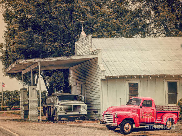 Wall Art - Photograph - Scenes From The Past Gas Station 2 by Karen Beasley