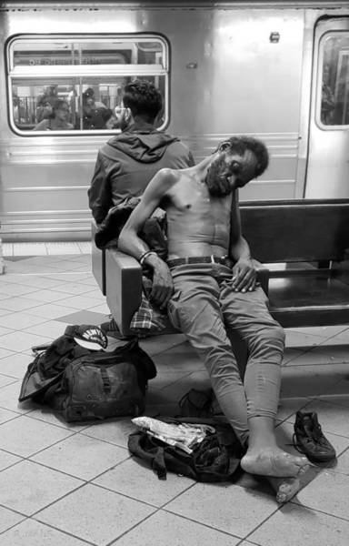 Photograph - Scenes From The Subway B W by Rob Hans