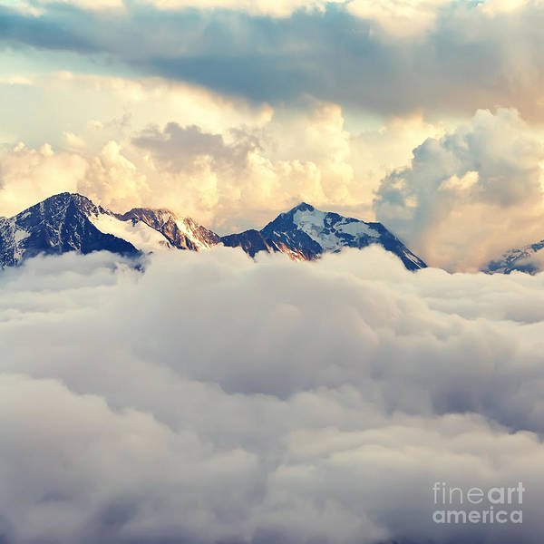 Wall Art - Photograph - Scenic Alpine Landscape With Mountain by Evgeny Bakharev