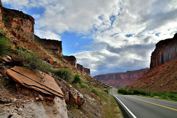 Photograph - Scenic Byway 128 Heading To Moab Utah by Ray Mathis