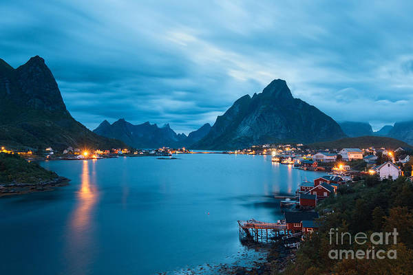 Fjord Photograph - Scenic Landscape On Lofoten Islands by Gavranboris