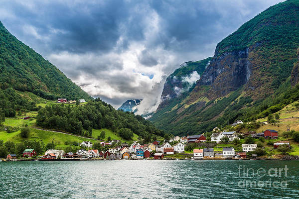 Fjord Photograph - Scenic Summer Panorama Of The Old Town by S-f