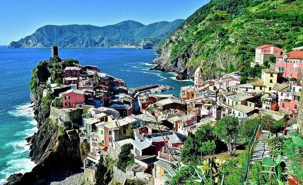 Wall Art - Photograph - Scenic Vernazza 2019 by Frozen in Time Fine Art Photography