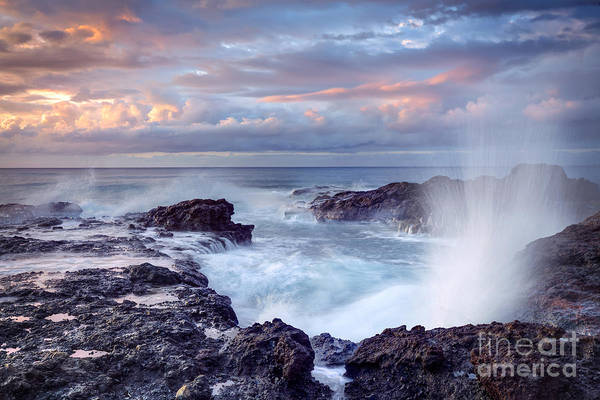 Geological Wall Art - Photograph - Scenic View Of Blowhole On Rocky by Infografick