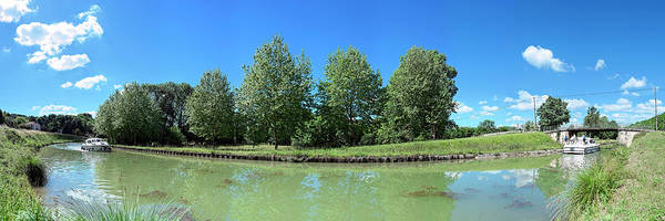 Wall Art - Photograph - Scenic View Of Burgundy Canal by Panoramic Images