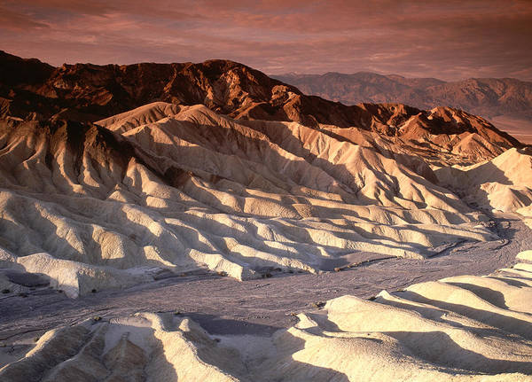 Burnt Orange Photograph - Scenic View Of Desert Hills Of Death by Licreate