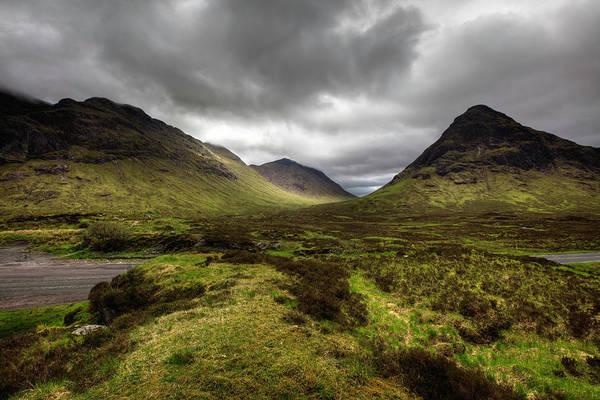 Moor Photograph - Scenic View Of Glencoe Pass, Scotland by Nicolamargaret
