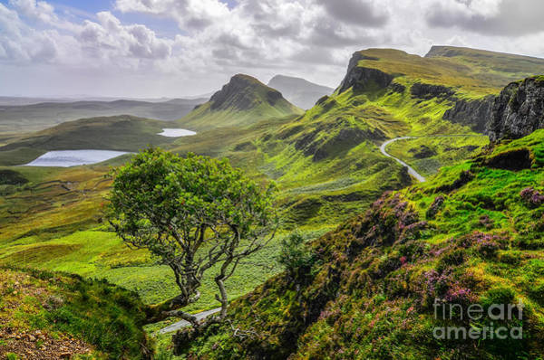 Beauty Of Nature Wall Art - Photograph - Scenic View Of Quiraing Mountains In by Martin M303