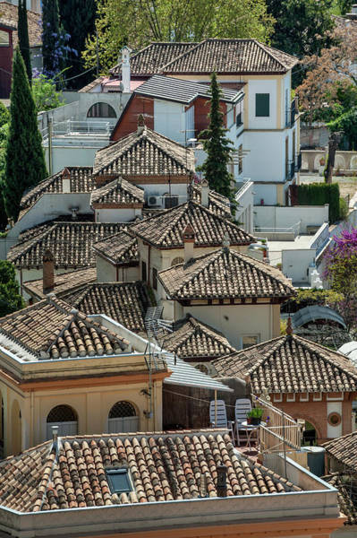 Granada Wall Art - Photograph - Scenic View Of Rooftops Albaicin by Izzet Keribar