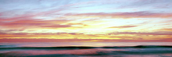 Wall Art - Photograph - Scenic View Of Sunset Over The Pacific by Panoramic Images