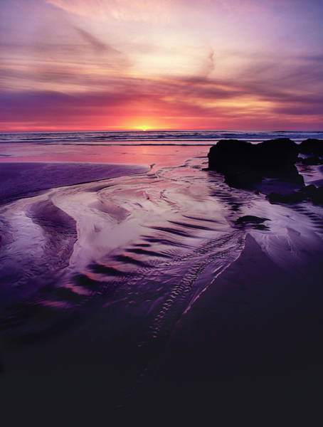 Wall Art - Photograph - Scenic View Of The Beach At Sunset by Panoramic Images