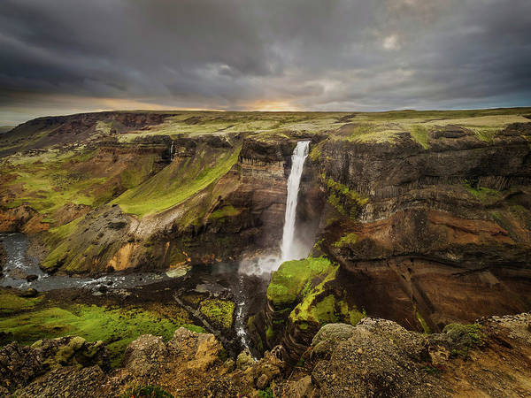 Photograph - Scenic Waterfalls-iceland by Usha Peddamatham