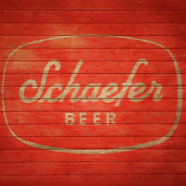 Beer Mixed Media - Schaefer Beer Barn Door by Dan Sproul