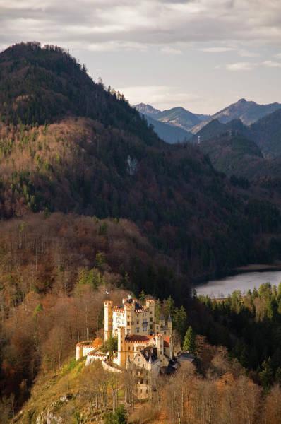 Photograph - Schloss Hohenschwangau, From Mountain by Glenn Van Der Knijff