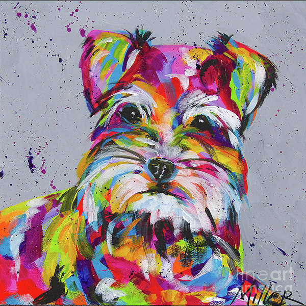 Wall Art - Painting - Schnauzer by Tracy Miller
