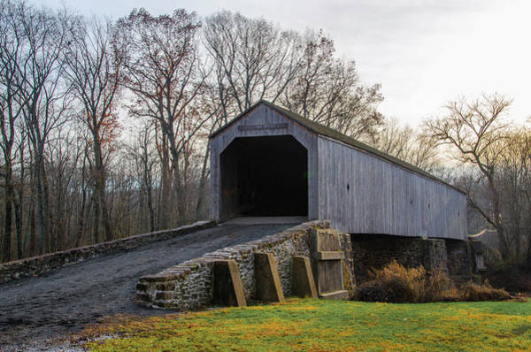 Wall Art - Photograph - Schofield Ford Covered Bridge - Tyler State Park - Bucks County by Bill Cannon