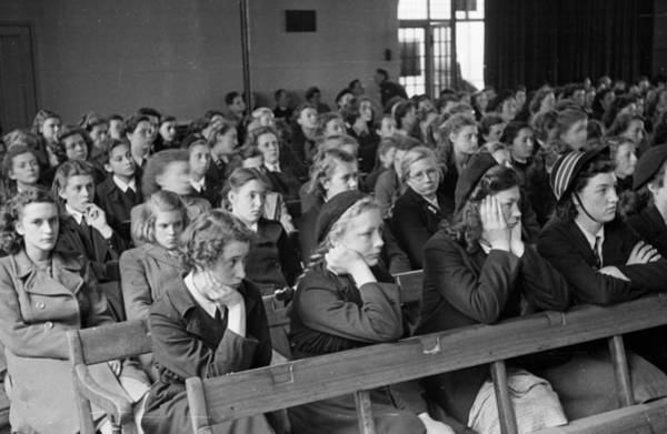 High School Photograph - School Audience by Kurt Hutton
