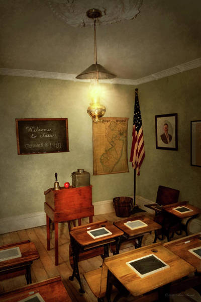 Photograph - School - Classroom - Welcome To Class by Mike Savad