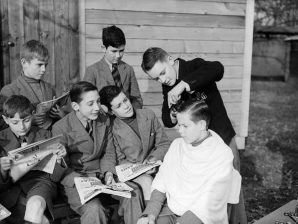 High School Photograph - School Hairdresser by Reg Speller