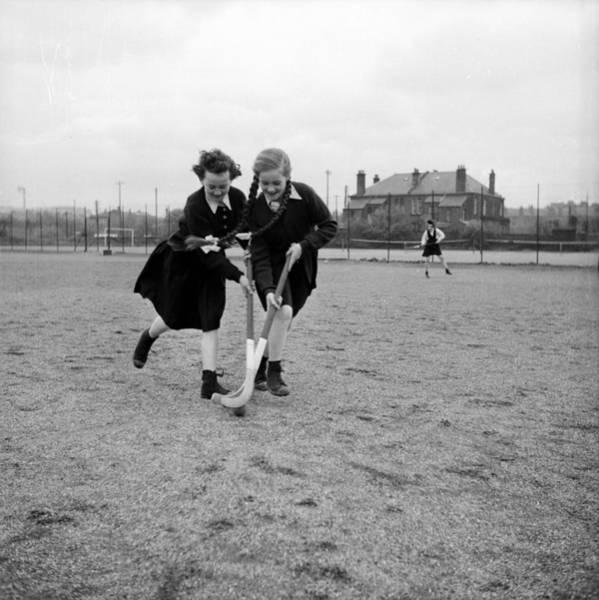 Playing Field Wall Art - Photograph - School Hockey by John Murray